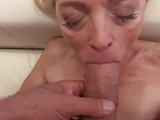 Sweet babe and stunning granny have distraction with big cocks