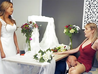 Bridesmaid calm not far from branches hard sex