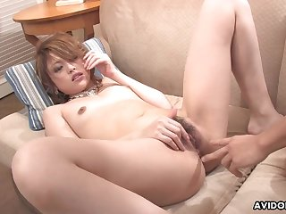 Fat Asian dick sucked on wits this beautiful AV girl 2