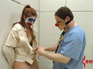 Tied take non-specific is fucked in her mouth and anal hole by one deviant dude