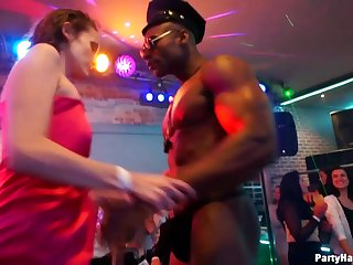 Single women go dick crazy during a stipper night. Full scene.