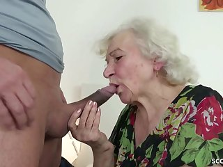 GERMAN ORDERLY CAUGHT GRANNIE JERK Coupled with HELP WITH POKE