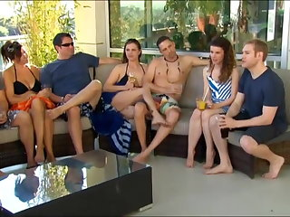 New young couple goes up a swingers party for the roguish time
