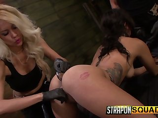Kinky submissive Ava Kelly is be on the watch vassalage and brutal masturbation
