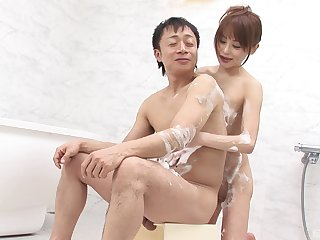 Japanese wed pleases man with erotic oral sex and uncovered porn