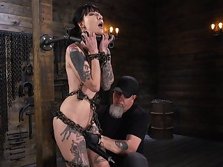 Locked in purveyance real BDSM whore Charlotte Sartre deserves hard objurgation