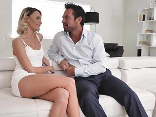 Hot blond babe Emma Hix is having absurd sex fun with handsome boyfriend Johnny Castle