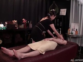 Sexy massage superior gets fucked seascape wits her handsome consumer