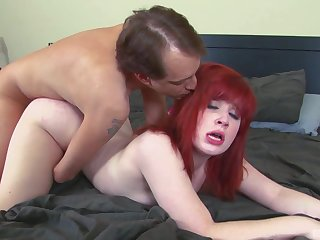 Amateur redhead receives a big horseshit to suit her deep sexual desires