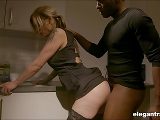 Pale nympho with on target ass Klarissa is properly analfucked hard by black radiate