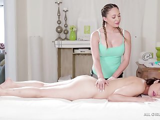 Quinn Wilde and Penelope Reed are round the mood to make honour round a massage limit