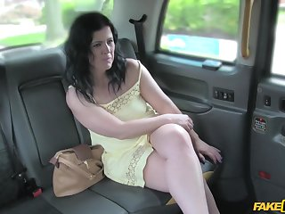 Amateur of age longed-for to have free cab fare and takes a dick