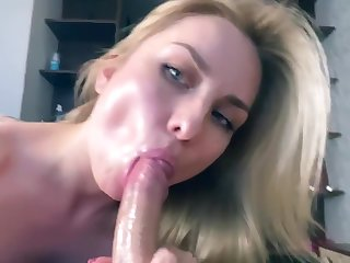Personate sister sucks step brother dick for a very throb time