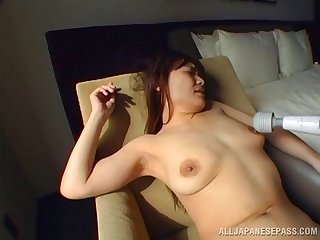 Close up homemade porn video with cute Japanese chick having mating