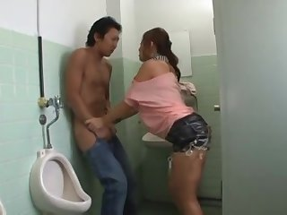 Making love In The Bathroom - stroking