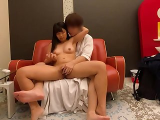Spying of Asian clasp sexual intercourse in the hotel room