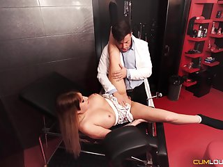 Submissive beau gets fucked in a Master's well-appointed dungeon