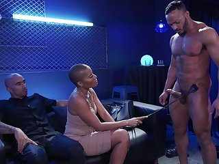 Watch really shunned hardcore MMF threesome more big racked glowering nympho