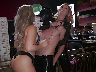 Some steamy AVN pegging with a smoking hot pornstar