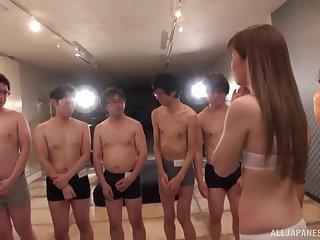 Slut Tachibana @ham spreads her legs to disgust fucked by lot of men