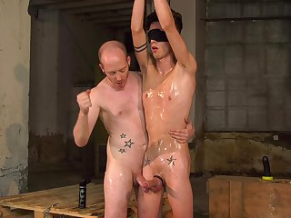Erotic undressed anal for a twink and her master