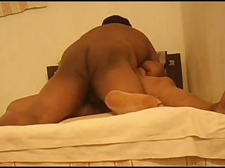 Obese big racked housewife from India spreads fingertips for some mish