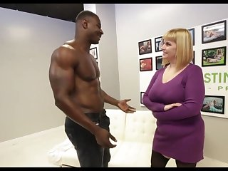 Big titted blonde, Fracas has hooked up with a black hunk, just to acquire fucked hard