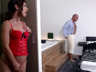 Video of skinny cookie Julia Roca having sex helter-skelter the Euphemistic go to the men's