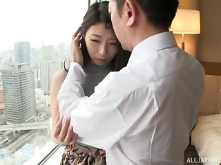 Quickie fucking on the bed nigh nice pain in the neck Japanese amateur babe