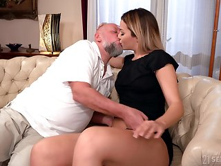 Sky pilot facializes Bianca Booty after eating and fucking her pleasure hole