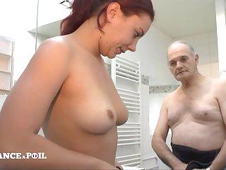 La France A Poil - Sexy Brunette Wakes Boyfriend Up Wit