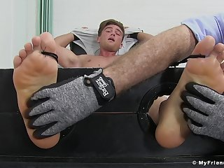 Owen White-headed engages in a kinky pioneering tickling charm session