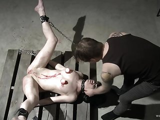 Rough torture approximately spanking with an increment of candle wax for a sexy amateur