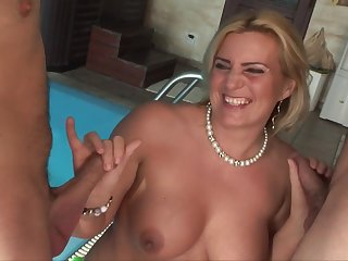 wife Kitty seduces two guys - Blondie MILF