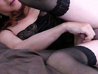 Mature Asian CD masturbating