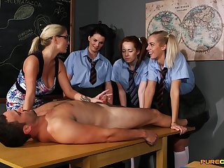 Young schoolgirls are keen with respect to learn revolutionary porn capacity