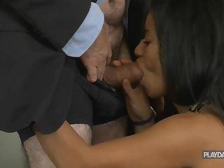Mature Businessman Dealings With Secretary