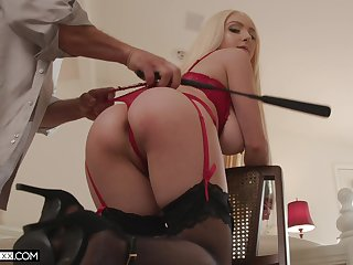 Ass whipped with an increment of tied up during sex for a complete maledom