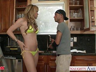 19 yo cherry boy becomes a real man with friend's cougar mother Desi Dalton