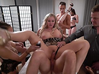 Hardcore group lovemaking party with naughty babes Valentina Sierra & Katsiaryna