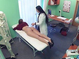 Downcast blistering nurse seduces invalid