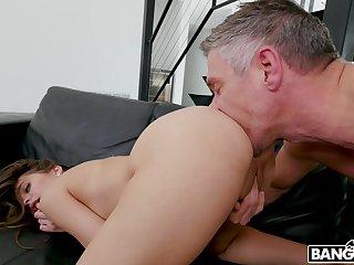 Bitch sucks dad's cock and fucks like a pro