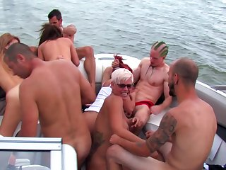 Wild fuck fest be useful to a boat with sex-mad sluts Kendra White and Kylee